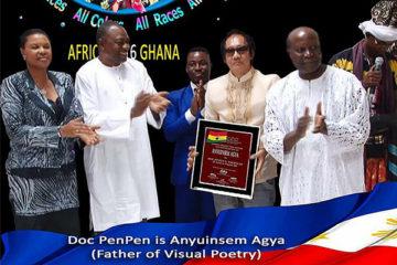 """朋朋博士被加纳共和国授予""""视觉诗歌之父""""-苏菲诗歌&翻译网"""